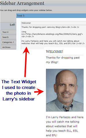 Image of Photo in Larry's sidebar