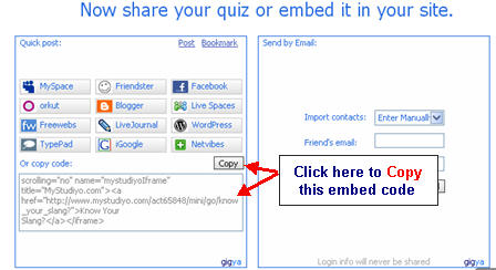 Image of the Embed Code