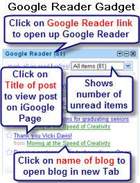 Image of Google reader gadget