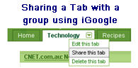 Image of Sharing a Tab