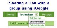 Image of Sharing a Tab