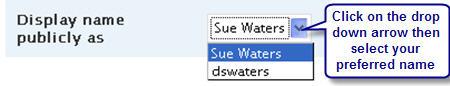 Image of Changing Displaying Name