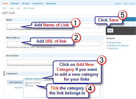 Image of link categories