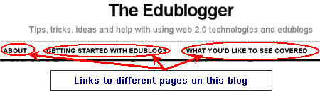 Image of pages on this blog