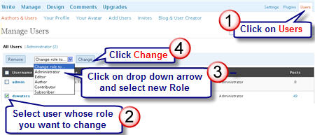 Image of how to change user roles