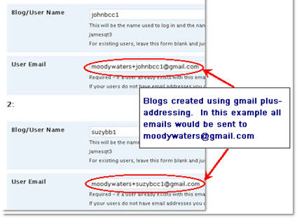 Image of using gmail to create blogs