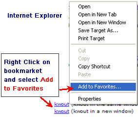 Image of Adding Bookmarklet to IE