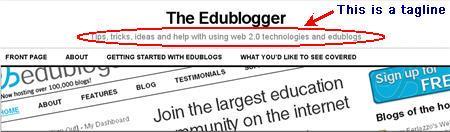 Image of a tagline