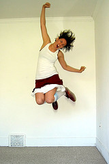 Image of person jumping
