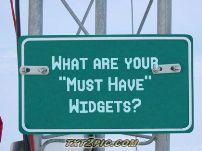 Image of Widget sign