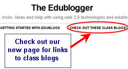 Image of link to class blog page
