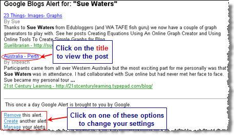 Image of a google alert