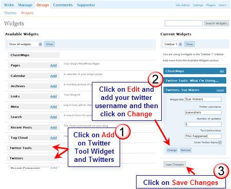 Image of Twitter widgets