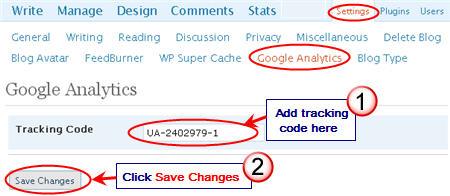 Image of adding tracking code