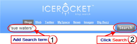 Image of searching icerocket