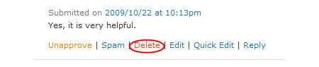 Image of deleting spam