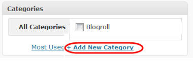 Click on Add new category