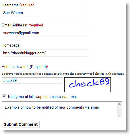 Subscribing to comments