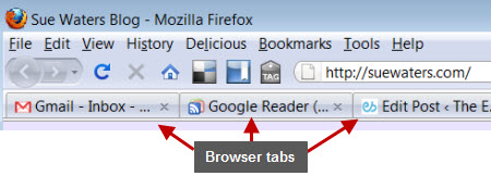 Example of Browser tabs