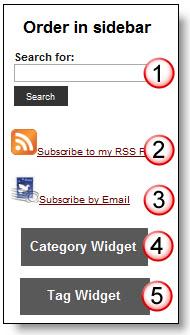 Order of widgets in sidebar