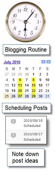 Blogging routines