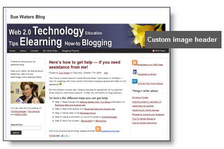 Example of a custom image header