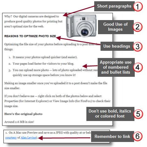 Tips for laying out blog posts