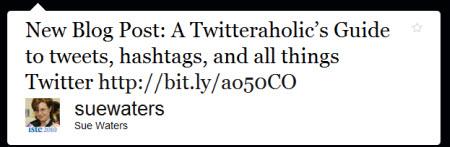 Tweeting a blog post