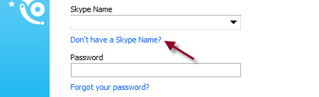 Click on Don't have a Skype name