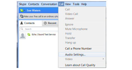 Configuring your audio settings