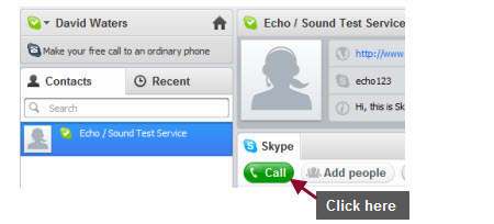 Click on Call