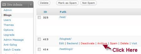 Archiving blogs