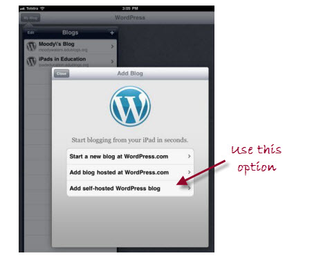 Selecting the right blog option