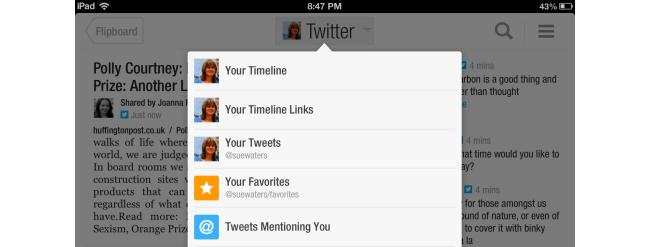 Tap on Timeline links