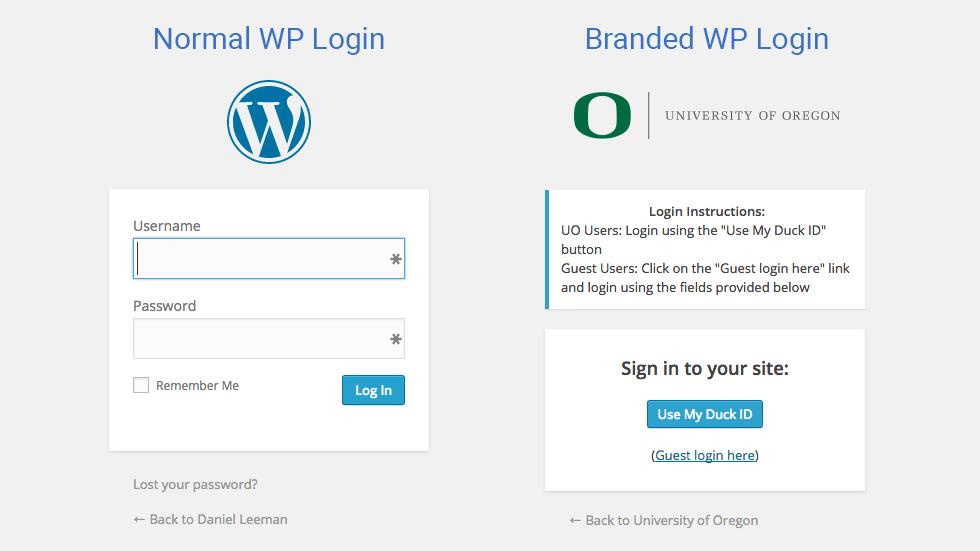 Branded WP Login