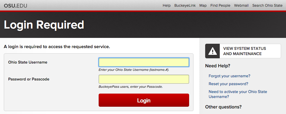 The Ohio State University Single Sign-On